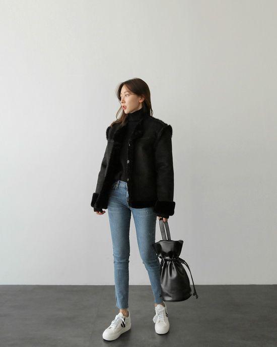搭配示范:腰粗女生冬季怎么穿最显瘦
